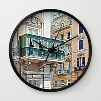 roman Wall Clocks featuring Roman Balcony by BlueMoonArt