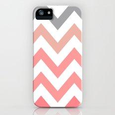 CORAL FADE CHEVRON iPhone (5, 5s) Slim Case