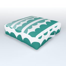 Mordidas Gradient Green Outdoor Floor Cushion