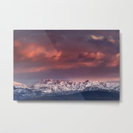 "Mysterious mountains"". Sunset at the mountains. Metal Print"