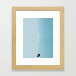 Los Angeles palm tree poster Framed Art Print