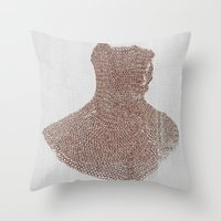 medieval Throw Pillows featuring Medieval by DM Davis