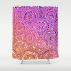 Scales Shower Curtains Society - Purple and gold shower curtain