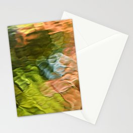 Salmon Mosaic Abstract Art Stationery Cards