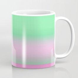 Green Pink Ombre Horizon Coffee Mug
