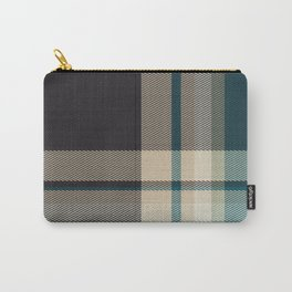 Christmas Plaid 9 (Blue) Carry-All Pouch
