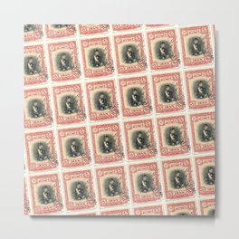 Old Iranian Stamp Metal Print