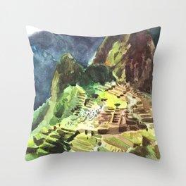 Machu Picchu Peru South America Throw Pillow