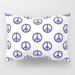 Peace (Navy Blue & White Pattern) Pillow Sham