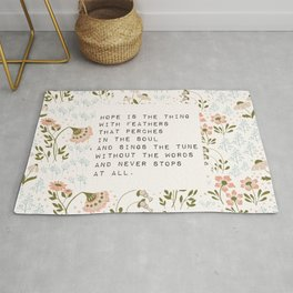 Hope is the thing with feathers - E. Dickinson Collection Rug