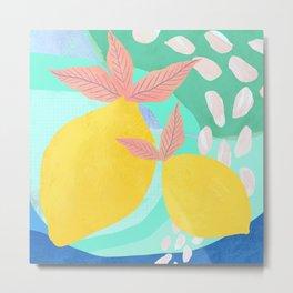 Pink Lemonade - Shapes and Layers no.32 Metal Print