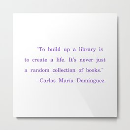 Library is life Metal Print