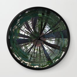 Wooded Planet Wall Clock