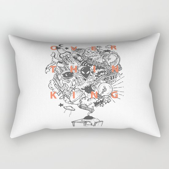 OVERTHINKING Rectangular Pillow