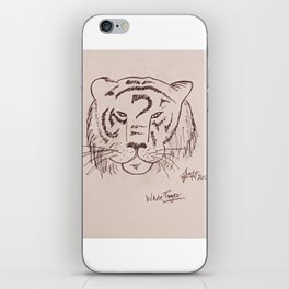 white tiger iPhone Skin