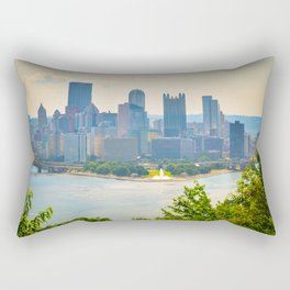 Pittsburgh City View Three Rivers Rectangular Pillow
