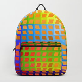 Rainbow Squares Victor Vasarely Style 1 Backpack