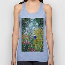 Flower Garden by Gustav Klimt vibrant Unisex Tank Top