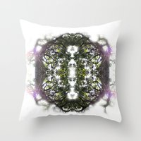circle Throw Pillows featuring Circle by Ben Geiger