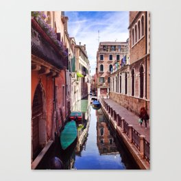 Get Lost In Venice Canvas Print