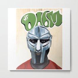 MASKED MAN DOOM Metal Print