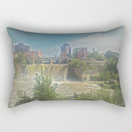 High Falls  on the Genesee River Rectangular Pillow