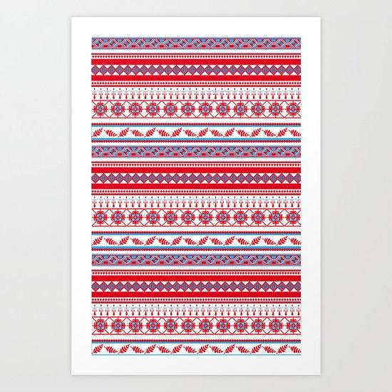 Eastern Lines Art Print