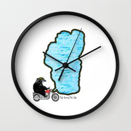 Tahoe Biker Bear Wall Clock