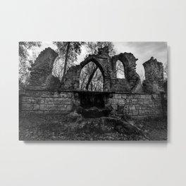 Ruined Metal Print