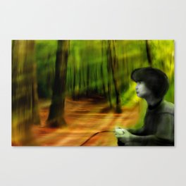 Playing Outside Canvas Print