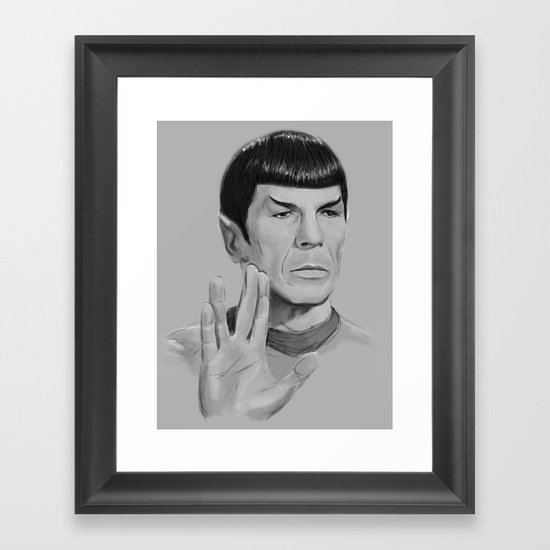 Spock Portrait Star Trek Framed Art Print