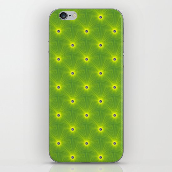 Yellow and Green Color Explosion Tiled iPhone & iPod Skin
