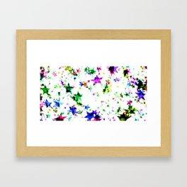 Colorful Stars Framed Art Print