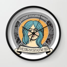 In Resting Bitch Face We Trust Wall Clock