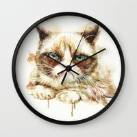 nope Wall Clocks featuring Nope by beart24