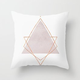 BLUSH COPPER ROSE GOLD GEOMETRIC SYNDROME Throw Pillow