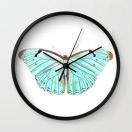 Butterfly Flutter By Wall Clock
