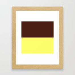 Choc Custard Framed Art Print