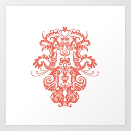 Harmony in Red Art Print
