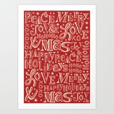 Seasonal Greetings Art Print