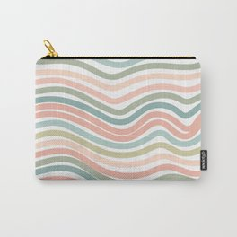 Pastel wave pattern home decor Carry-All Pouch