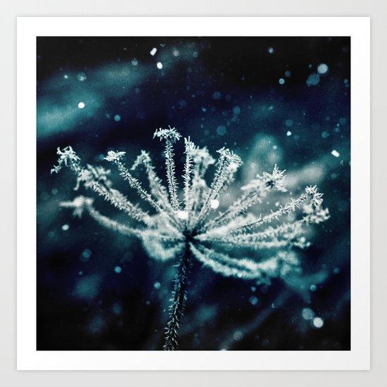 blue ice princess Art Print
