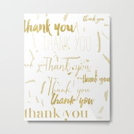 Thank you golden Metal Print