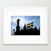 stockholm Framed Art Prints featuring Stockholm by Mark Hill