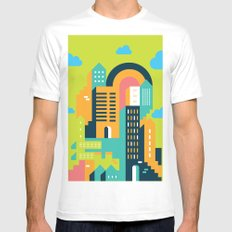my home my city White Mens Fitted Tee MEDIUM