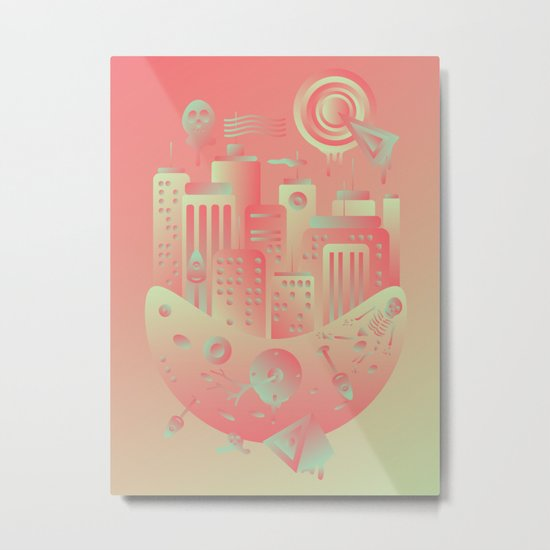 Geometromorphic City Metal Print