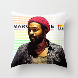 """""""WHAT'S GOING ON"""" Throw Pillow"""
