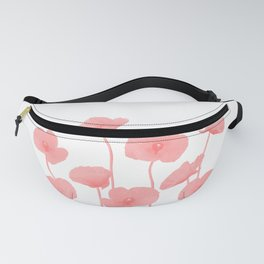 Poppies Flowers red light colored Fanny Pack