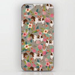 Shorthorn cattle breed farm homestead cows shorthorn cow floral iPhone Skin