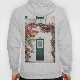 Front Door with Flowers in Cascais, Portugal | Travel Photography | Hoody